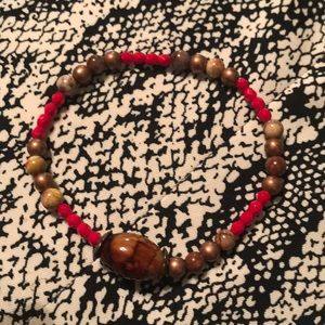 Beautiful Red, Bronze,Brown stretch beads.